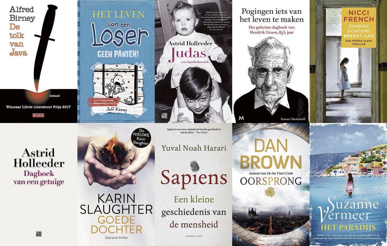 Top 100 populairste boeken van 2018